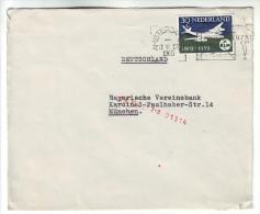 121 Netherlands 1960 Letter From Amsterdam To Munchen Mi 738 Douglas DC-8 KLM - 1949-1980 (Juliana)