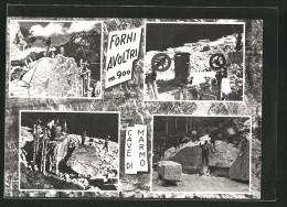 Cartolina Forni Avoltri, Cave Di Marmo - Altre Città
