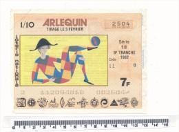 Billet De La Loterie Nationale - Arlequin 1982 - Billetes De Lotería