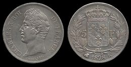 CHARLES X . 5 FRANCS . 1828 K . ( BORDEAUX ). - France