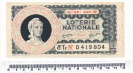 Billet De La Loterie Nationale - 8° Tranche, 1935 - Billetes De Lotería