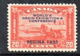 Y927 - CANADA' 1933 , Y&T  N. 168A Senza Gomma . - 1911-1935 Regno Di George V