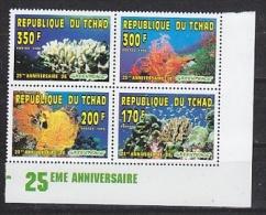 Republique Du Tchad 1996 Greenpeace Corals  4v In Bl ** Mnh (25890) - Tsjaad (1960-...)
