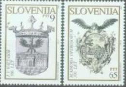 SI 1993-67-8 COAT OF ARMS, SLOVENIA, 1 X 2v, MNH - Briefmarken