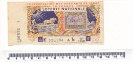 Billet De La Loterie Nationale - Débitants De Tabac, 1942 - Billetes De Lotería