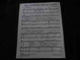 """Partition Chanson Dabadie """"Tous Les Bateaux...Tous Les Oiseaux"""" - Partitions Musicales Anciennes"""