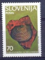 SI 1995-108 FOSSILY, SLOVENIA, 1 X 1v, MNH - Mineralien