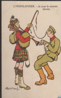 CPA:Mass'beuf:L'Highlander:Je Joue Le Miousic Dansez - Mass'Boeuf