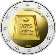 2 EURO COMMEMORATIVE MALTA MALTE 2015 RÉPUBLIQUE REPUBBLICA 1974 - Malte