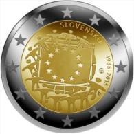 2 EURO COMMEMORATIVE SLOVAQUIE SLOVACCHIA 2015 30° FLAG BANDIERA EUROPEA - Slovaquie
