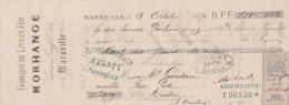 Lettre Change 13/10/1876 MORHANGE Lits En Fer MARSEILLE Bouches Du Rhône Pour Menton - Timbre Fiscal Oudiné - Lettres De Change