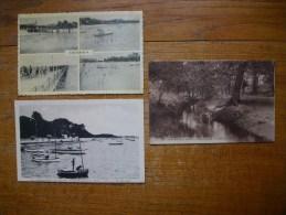3 Cartes D'andernos-les-bains , Multi-vues ,, Les Joies Du Canotage ,, Ruisseau Du Moulin - Andernos-les-Bains