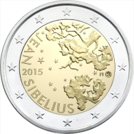 2 EURO COMMEMORATIVE FINLANDIA FINLANDE 2015 Jean Sibelius - Finlande