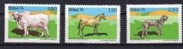 Aimaux  Cheval , Chien,vache BRESIL 1974 Neufs ** 1123/1125 - Brazil