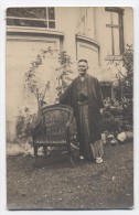RPPC Asian Man In Kimono Robe Posing Near Chair C1920's Real Photo Postcard - Unclassified