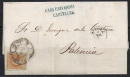 ESPAÑA 1862 - Envuelta Madrid A Palencia - 1850-68 Regno: Isabella II