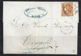 ESPAÑA 1862 - Envuelta - 1850-68 Reino: Isabel II
