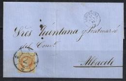 ESPAÑA 1861- Envueltas Barcelona A Albacete - 1850-68 Regno: Isabella II