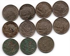 100 F Cochet (11 Pièces) - N. 100 Francs