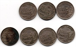 100 F Cochet 1954B Et 1955B (7 Pièces) - N. 100 Francs