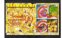 16F : Sri Lanka Buddhism, Wesak Vesak,lantern,lotus Flower, Miniature Sheet, MS - Buddhism