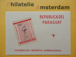Paraguay 1962, OLYMPICS TOKYO: Mi 1110, Bl. 28, ** - Zomer 1964: Tokyo