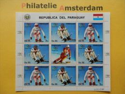 Paraguay 1987, OLYMPICS CALGARY: Mi 4114-15, ** - KB - Winter 1988: Calgary