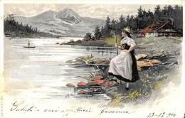 [DC4325] CARTOLINA - ILLUSTRATA - DOONA SUULA RIVA DEL FIUME - Viaggiata 1904 - Old Postcard - Postcards