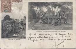 BENIN - Indigènes Dahoméens Fabriquant Des Briques - Un Coin Du Marché - Benin