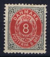 DENMARK: Mi Nr 25 I YA C Graublau MH/*, Avec  Charnière , Mit Falz 1875 - 1864-04 (Christian IX)