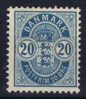 DENMARK: Mi Nr 33 MH/*, Avec  Charnière , Mit Falz 1882 Part Gum / Thin Spot - 1864-04 (Christian IX)