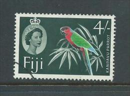 Fiji 1969 QEII  4 Shillin Green Parrot Bird Definitive FU - Fiji (...-1970)