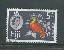 Fiji 1962 QEII 5 Shilling Orange Dove Bird Definitive FU - Fiji (...-1970)