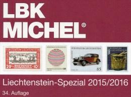 MICHEL Liechtenstein Spezial Briefmarken Katalog LBK 2015/2016 Neu 39F Vorphilatelie Ganzsachen Flugpost Catalogue Of FL - Art