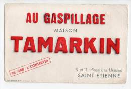 Buvard - Au Gaspillage, Maison Tamarkin, Saint Etienne - Buvards, Protège-cahiers Illustrés