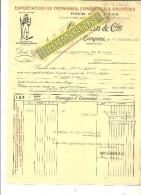 Suisse - Emmental - LANGNAU - Facture LEMANN - Exportation De Fromages, Emmentals, Gruyères – 1932 - REF 215 - Switzerland
