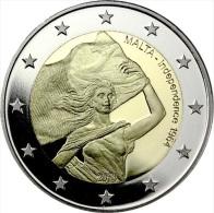 2 EURO COMMEMORATIVE MALTA MALTE 2014 INDIPENDENZA INDEPENDECE 1964 - Malte