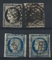 FRANCE - N° 3 Et 4 Par 2 Exemplaires - Présentant Quelques Defauts Cote Yvert 240 € - à Voir - Lot P12143 - 1849-1850 Cérès
