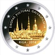 2 EURO COMMEMORATIVE LETTONIA LETTONIE 2014 RIGA - Letonia
