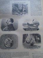 Aus Der Mappe Eines Kriminalisten - Humour  Bull  Vatrermörder Blutgericht   -   Holzschnitt Gravure 1880  IW1880.205 - Estampes & Gravures