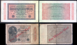 GERMANY 5 Used Banknotes Inflation Period 1922/23 - 5, 10, 20, 50K & Billion Bb151029 - [ 3] 1918-1933 : Repubblica  Di Weimar