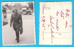Italian Army - Officer ( Roma 07.08.1945. ) Vintage Photos * Esercito Italiano Ufficiale * Vecchia Foto Originale Italia - 1939-45
