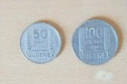 "2 Monnaies ""Turin"" Algérie De 50 Fr 1949 Et 100 Fr 1950 ;TTB+ - France"
