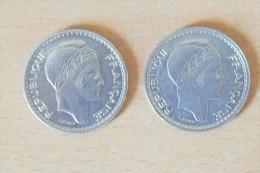 """Lot De 2 Monnaies, 10 Fr. """"Turin De 1948 Et 1949 En SUP (Monnaies Beaucoup Plus Belle Que Photo) - M. 50 Francs"""