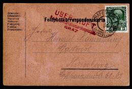 A3527) Österreich Austria Feldpostkarte Als Normale Karte Von Grafendorf 3.3.16 Mit Zensur GRAZ - 1850-1918 Imperium