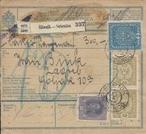 Sprovodni List (Bulletin D´expédition) DO000080 - Sibenik To Zagreb 1918 - Invoices & Commercial Documents