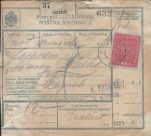Sprovodni List (Bulletin D´expédition) DO000081 - Krsko To Zagreb 1918 - Invoices & Commercial Documents