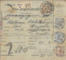Sprovodni List (Bulletin D´expédition) DO000088 - Wien To Medak 1894 - Invoices & Commercial Documents