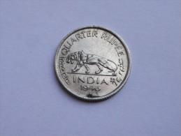 INDE BRITT.     1/4 RUPEE 1946   NICKEL  GEORGE VI      TRANCHE CANNELEE - India