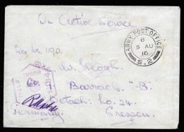 A3529) UK Feldpostbrief Von 5.8.1916 Nach Gnessen / Germany - 1902-1951 (Kings)